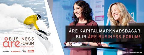 Varmt välkommen till Åre Business Forum 29-31 mars 2017