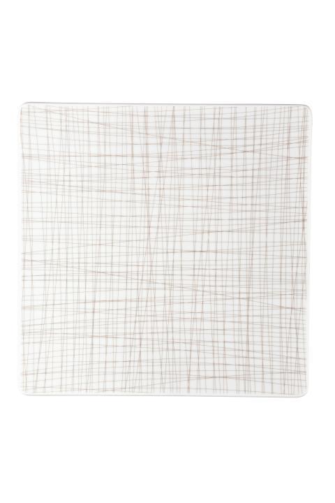 R_Mesh_Line Walnut_Plate 31 cm square flat