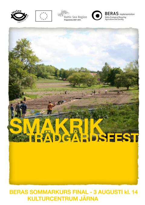 Smakrik Trädgårdsfest Kulturhuset Järna