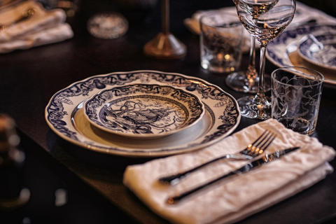 Table setting at Gotthards Krog, Umeå, Sweden by Stylt