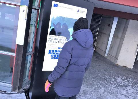 Tavla vid skidstadion i Östersund lyfter EU-satsning