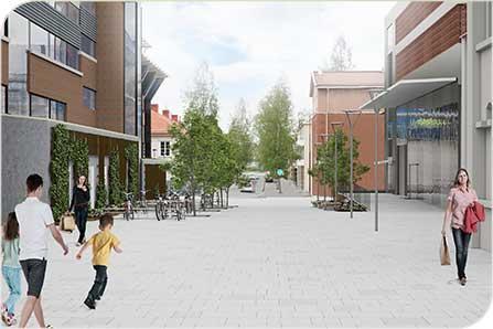 Utformning av gator runt nya badhuset klart