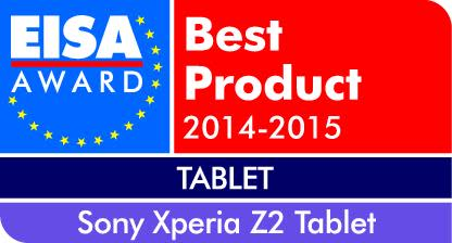 European Tablet of the year 2014-2015: Xperia™ Z2 Tablet