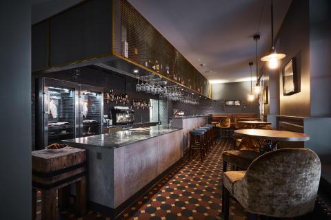 Bar at Spedition Hotel & Restaurant, Thun, Switzerland - design by Stylt