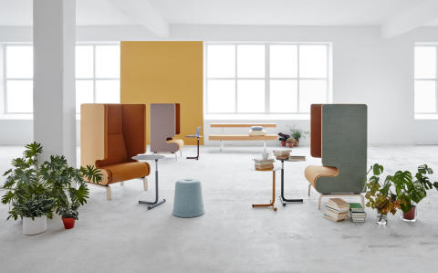 MATERIA_Point sofa_Hopper table_Avant bench_Cap stool