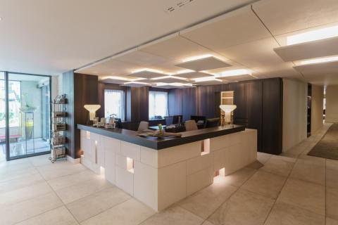 Neuer Rezeptionsbereich im DolceVita Hotel Feldhof