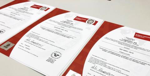 Alla Logiwaste ISO-certifikat uppgraderade till senaste standard