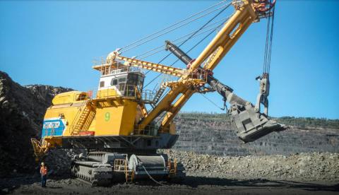Bra arbetsmiljö i gigantiska grävmaskiner