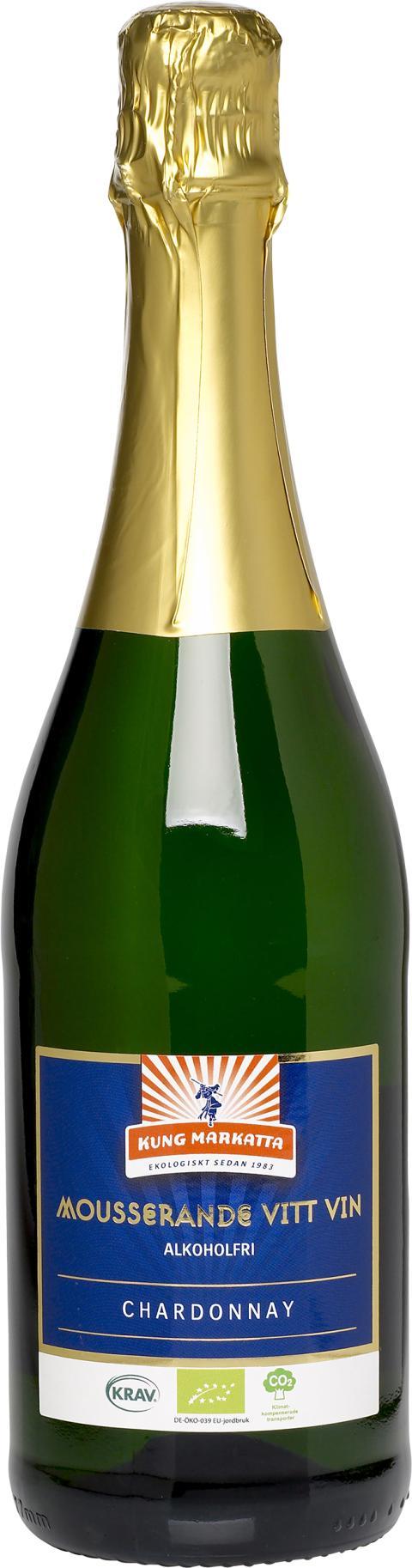 Kung Markatta Mousserande Vitt Vin, alkoholfritt, 750 ml
