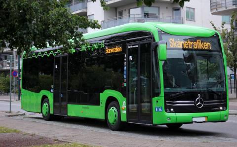 Pressvisning: Provåk Ystads nya gröna elbussar