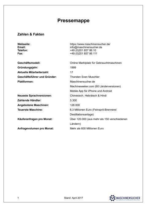 Pressemappe Maschinensucher (PDF)