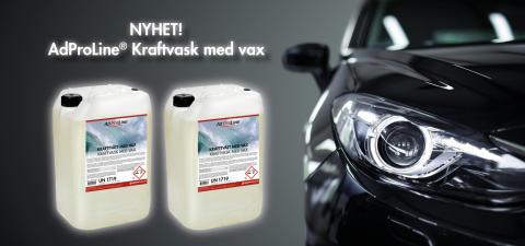 Nyhet - AdProLine® Kraftvask med vax!