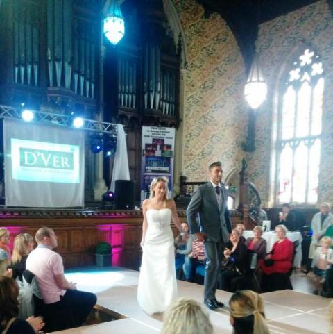 Catwalk show: Couples gathered around the stage to see what they could wear on the their big day