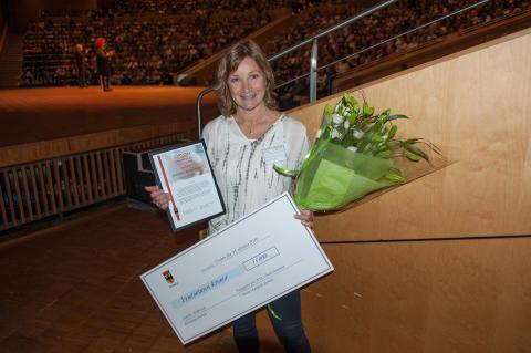 Annelie Andersson, förskollärare på Björkhaga förskola, mottagare av Pedagogiskt pris 2016 i kategorin förskola