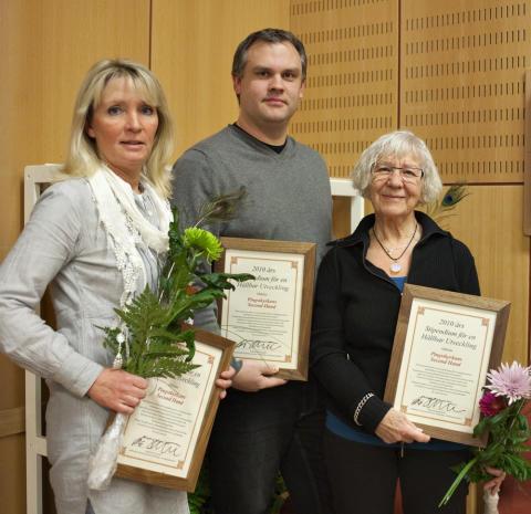 Pingstkyrkans Second hand i Kungälvs kommun fick hållbarhetsstipendium