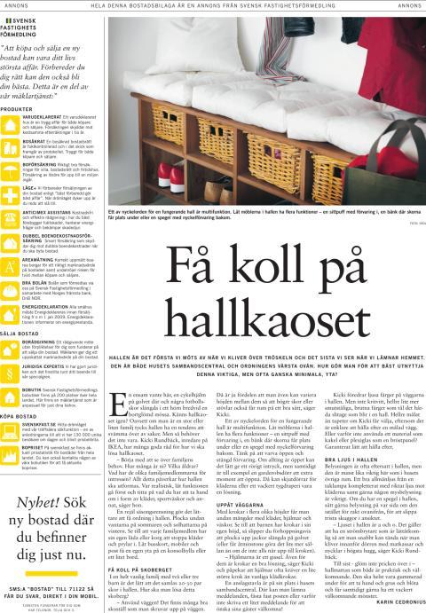 Inspiration: Hall, första sidan