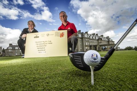 Royal Mail stamping success on The 2014 Ryder Cup at Gleneagles with special postmark