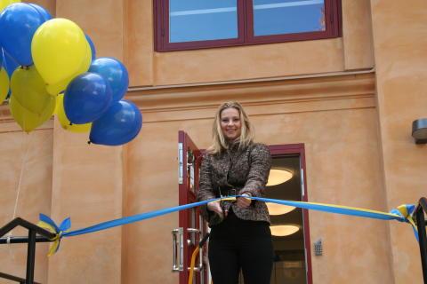 Therese Carlborg (M) invigde ny förskola i unik historisk miljö på Östermalm