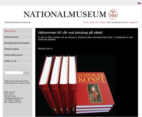 Nationalmuseum öppnar ny bokshop på nätet