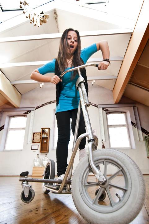 Ta körkort för en felstyrd cykel