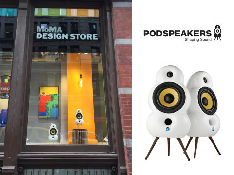 Podspeakers displayed in MoMA Design Stores in New York