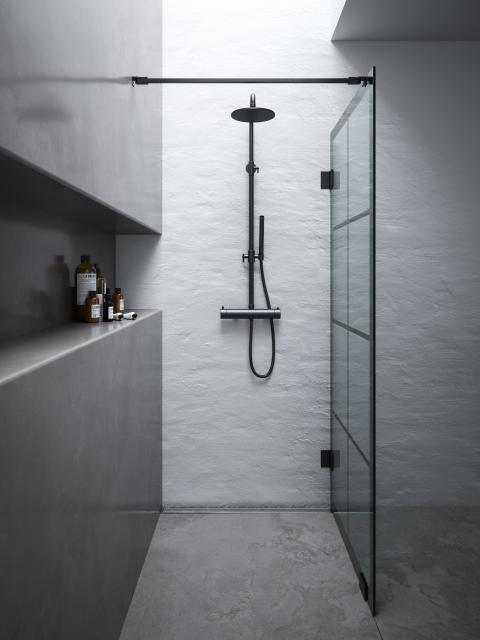 Rista 180 suihkuseinä + Vist -suihkukokonaisuus