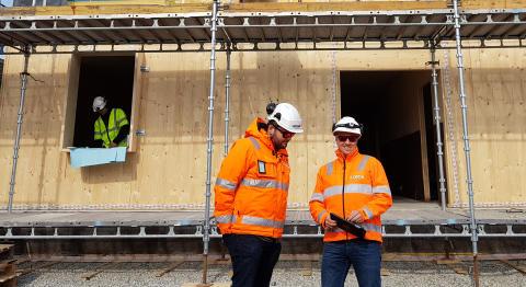 Peab bygger internat og verksted på Buskerud videregående skole