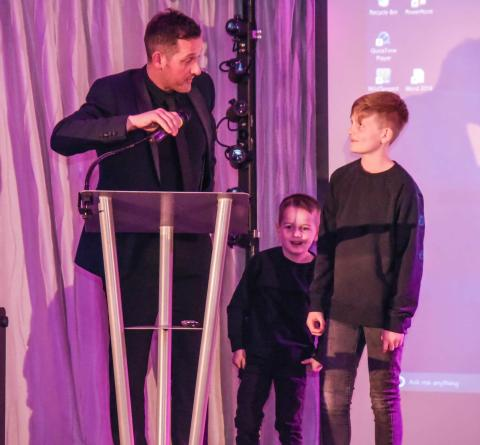 Harry and Sam raise £33,000 at family's annual charity balls