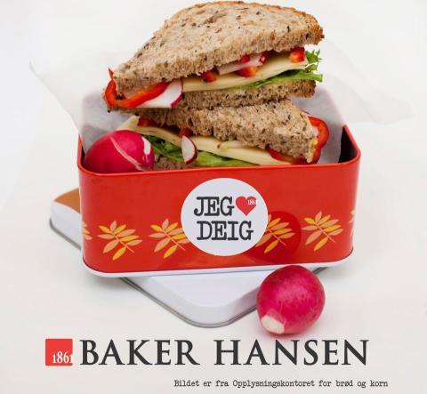 Baker Hansen matpakke - jeg elsker deig