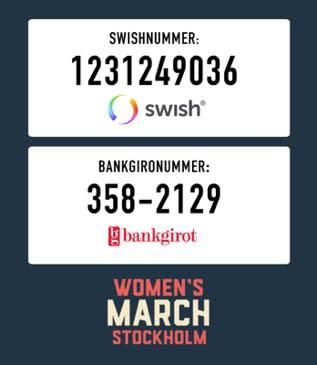 Stötta Womens march