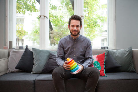 Johannes Strate zu Gast beim 3. Fisher-Price Elternbrunch in Berlin