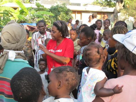 ActionAid oroade för kvinnors säkerhet i Haiti - utökar arbetet med kvinnors rättigheter