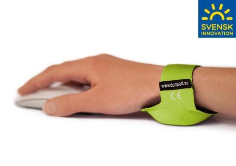 Handledsstödet DuoPad - förebygger musarm och karpaltunnelsyndrom