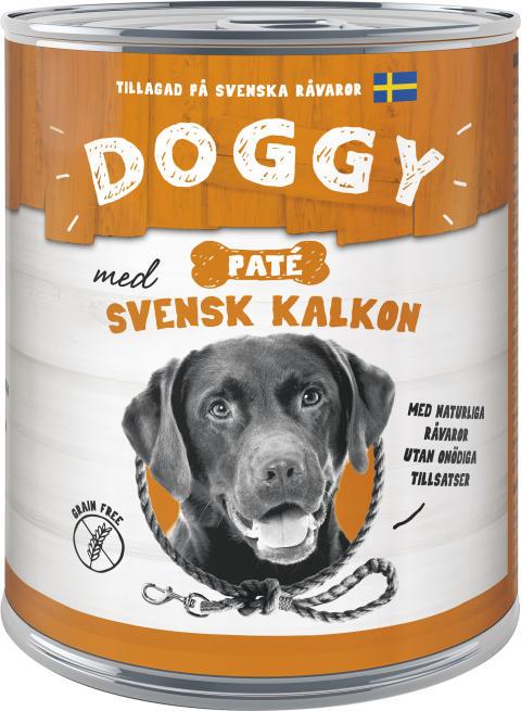 Doggy Konserv Paté med svensk kalkon
