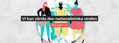 Skriv på idag för den svenska jämställdheten – mot nationalismen
