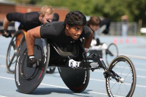 Meet Sheikh and read how Aspire helped fund rollers for his racing chair!