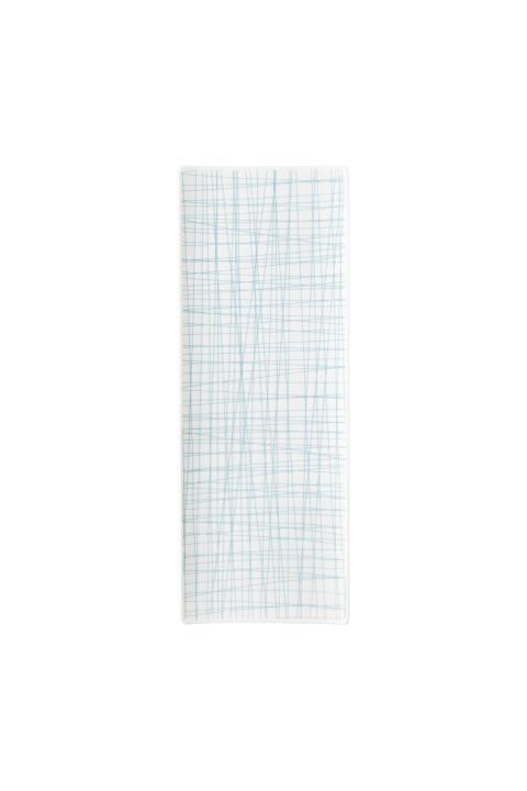 R_Mesh_Line Aqua_Platte 34 x 13 cm flach