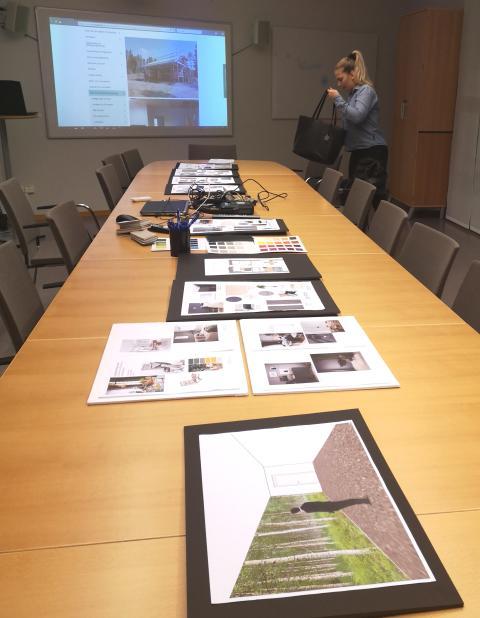 Presentation av inredningsförslagen