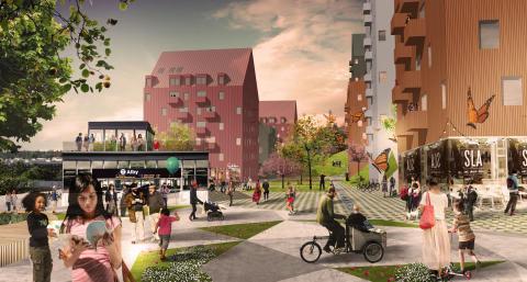 Arkitema Architects vinder stor boligopgave i forstad til Stockholm
