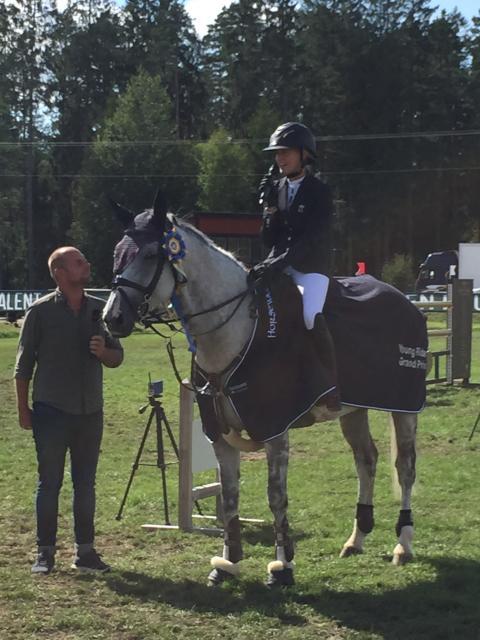 Cajsa Soberon vann Runsten Equestrian Young Rider Grand Prix
