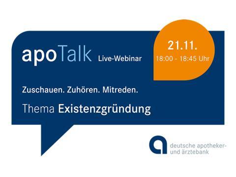 apoBank startet eine Live-Webinar-Serie zum Thema Existenzgründung