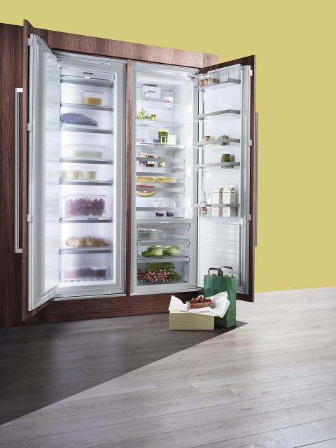 Siemens lanserar energieffektiva coolConcept - helt ny serie rymliga integrerade frys - och kylskåp med energiklass A++