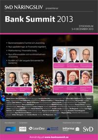 LeanDev sponsrar och presenterar på SvD Bank Summit 2013