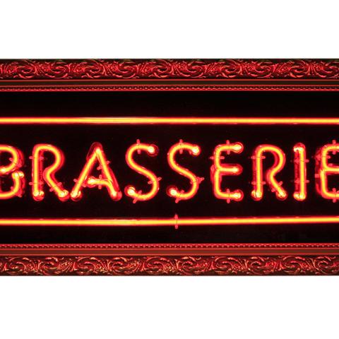 Neonskylt Brasserie Le Rough