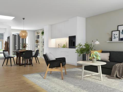 Visualisering af Ikano-boliger i Hillerød - 3