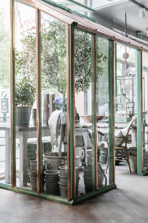 O&C växthus i koppar och grönt 3