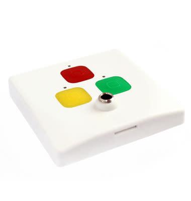 """""""A-CALL Accept"""" - Rumspanel med tre knappar och phono"""