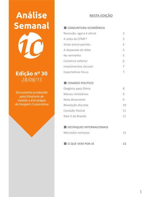 Análise Semanal IC - 28.08.2015