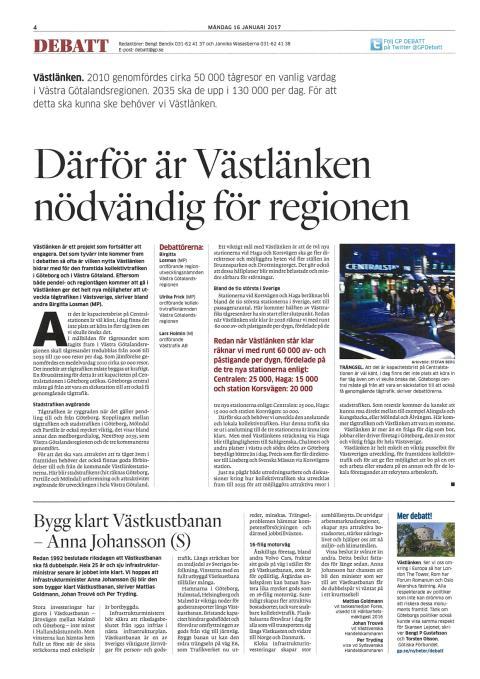 Bygg klart Västkustbanan - Anna Johansson (S)