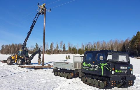 Linde energi bygger med WOPAS giftfria stolpar
